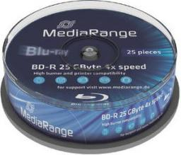 MediaRange Blu-ray BD-R, 4x,  25GB,  25 sztuk, (MR503)