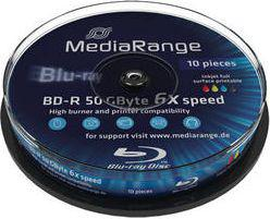 MediaRange BD-R DL 50 GB 6x 10 sztuk (MR509)