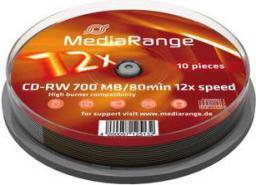 MediaRange CD-RW, rewritable, 12x, 700MB, 10 sztuk (MR235)
