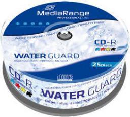 MediaRange CD-R, 52x, 700MB, do drukarek atramentowych, 25 sztuk (MRPL512)
