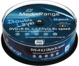 MediaRange DVD+R DL, 4x, 8.5GB, 25 sztuk (MR474)