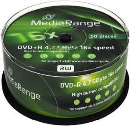 MediaRange DVD+R, 16x, 4,7GB, 50 sztuk (MR445)