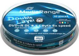MediaRange DVD+R DL, 8x, 8.5GB, 10sztuk (MR468)