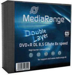 MediaRange DVD+ R DL, 8x, 8.5GB, 5 sztuk (MR465)