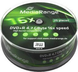 MediaRange DVD+R, 16x, 4,7GB, 25 sztuk (MR404)
