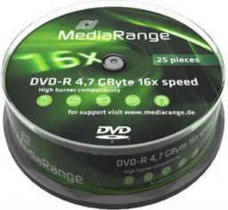 MediaRange DVD-R, 16x, 4,7GB, 25 sztuk (MR403)