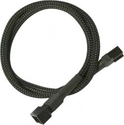Nanoxia 3-Pin Molex przedłużacz 60 cm, czarny (900100001)