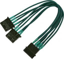Nanoxia 4-Pin Molex rozgałęźnik 20cm, zielony (900500026)