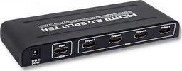 Qoltec QOLTEC AKTYWNY RODZIELACZ HDMI SPLITTER V2.0   1X4