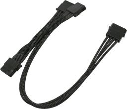 Nanoxia Rozdzielacz 4Pin Molex - 3x4Pin 30cm, czarny (900100008)