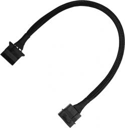 Nanoxia 4-Pin Molex przedłużacz 30cm, czarny (900100010)