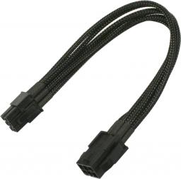 Nanoxia 6-Pin PCI-E przedłużacz 30 cm, czarny (900100021)