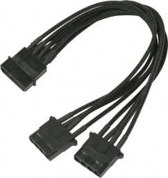 Nanoxia 4-Pin Molex rozgałęźnik 20cm, czarny (900100026)