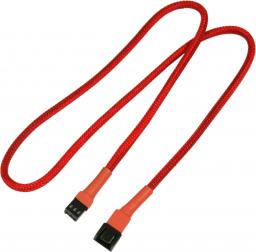 Nanoxia 3-Pin Molex przedłużacz 60 cm, czerwony (900300001)