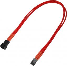 Nanoxia 3-Pin Molex przedłużacz 30cm, czerwony (900300017)