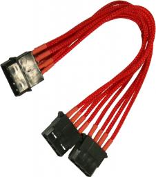 Nanoxia 4-Pin Molex rozgałęźnik 20cm, czerwony (900300026)