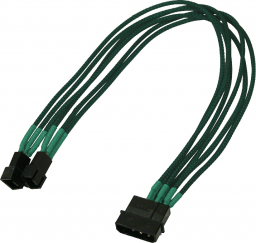 Nanoxia Adapter 4Pin Molex - 2x3Pin 30cm, zielony (900500015)
