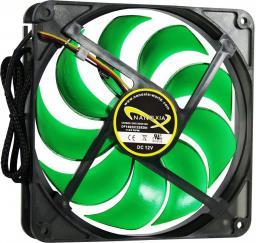 Nanoxia Wentylator  DS 1100 RPM,  140mm, czarno zielony (200300271)
