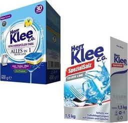 Herr Klee Herr Klee Tabletki do zmywarki 30szt+Sól do zmywarki uniwersalny