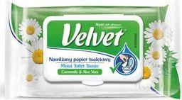 Velvet Papier toaletowy celulozowy VELVET Rum&Aloe, nawilżany, 42 listki, biały
