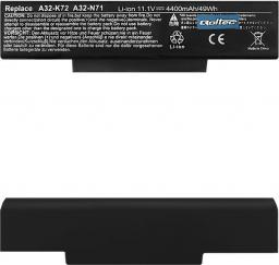 Bateria Qoltec do laptopa Asus A32-K72 | 11.1 V | 4400 mAh (52510.A32-K72)