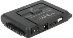 Adapter USB Delock USB 2.0 - SATA/IDE Czarny (61486)