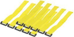 Organizer Techly Opaski Rzepowe 300 x 20 mm, 10 sztuk, Żółte (306448)