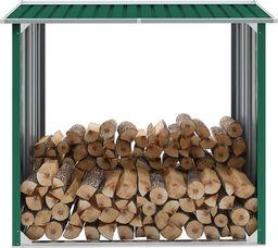 vidaXL Wiata na drewno, stal galwanizowana, 172x91x154 cm, zielona (47080)