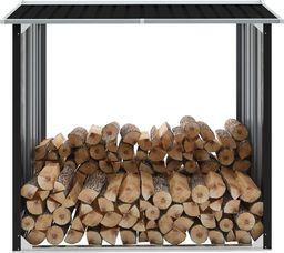vidaXL Wiata na drewno, stal galwanizowana, 172x91x154 cm, antracyt (47082)