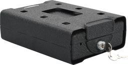 vidaXL Sejf samochodowy, czarny, 21,8 x 16 x 7 cm, stal
