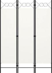 vidaXL Parawan 3-panelowy, biały, 120 x 180 cm