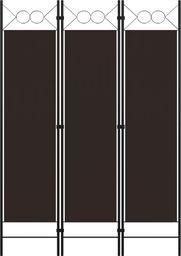 vidaXL Parawan 3-panelowy, brązowy, 120 x 180 cm