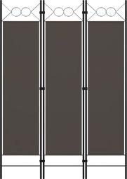 vidaXL Parawan 3-panelowy, antracytowy, 120 x 180 cm