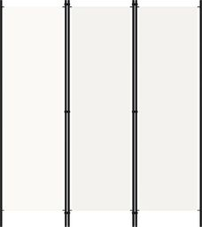 vidaXL Parawan 3-panelowy, biały, 150 x 180 cm