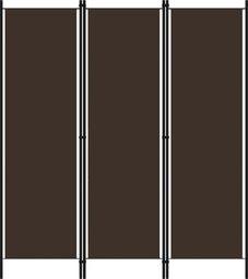 vidaXL Parawan 3-panelowy, brązowy, 150 x 180 cm