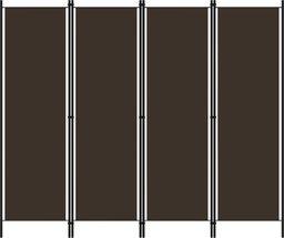 vidaXL Parawan 4-panelowy, brązowy, 200 x 180 cm