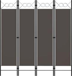 vidaXL Parawan 4-panelowy, antracytowy, 160 x 180 cm