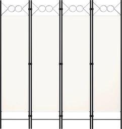 vidaXL Parawan 4-panelowy, biały, 160 x 180 cm