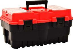 vidaXL Skrzynka narzędziowa, plastikowa, 462x256x242 mm, czerwona