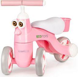 Ecotoys Rowerek biegowy mini rower chodzik muzyka led