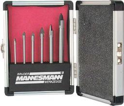 Zestaw wierteł Mannesmann Brder Mannesmann 6-częściowy zestaw wierteł do szkła, stal, 54806