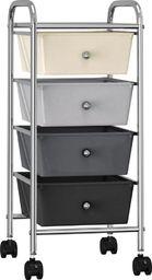 Wózek narzędziowy vidaXL Wózek z 4 szufladami, ombre, plastikowy