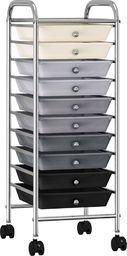 Wózek narzędziowy vidaXL Wózek z 10 szufladami, ombre, plastikowy