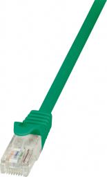 LogiLink CAT 5e Patchcord U/UTP Zielony 0.25M (CP1015U)