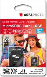 Karta AgfaPhoto SDHC MicroSDHC 16 GB Class 10 UHS-I/U1 A1 V10 (SB6030)