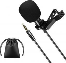 Mikrofon Mozos krawatowy z klipsem do rozmów, jack 3.5 mm (LAVMIC1)