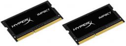 Pamięć do laptopa HyperX Impact Black DDR3L SODIMM 2x8GB 1866MHz CL11 (HX318LS11IBK2/16)