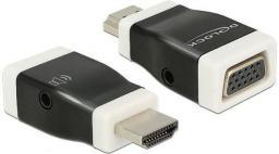 Adapter AV Delock HDMI-A (M) - VGA (F) z funkcją audio (65586)