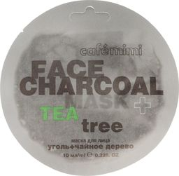 Cafe Mimi Cafe Mimi Face Charcoal Maseczka do twarzy Węgiel Bambusowy & Drzewo Herbaciane 10ml