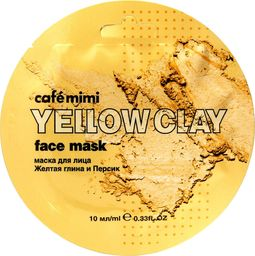 Cafe Mimi Cafe Mimi Yellow Clay Maseczka do twarzy Żółta Glinka & Brzoskwinia 10ml